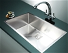 810x505mm Handmade 1.5mm Stainless Steel Kitchen Sink with Square Waste