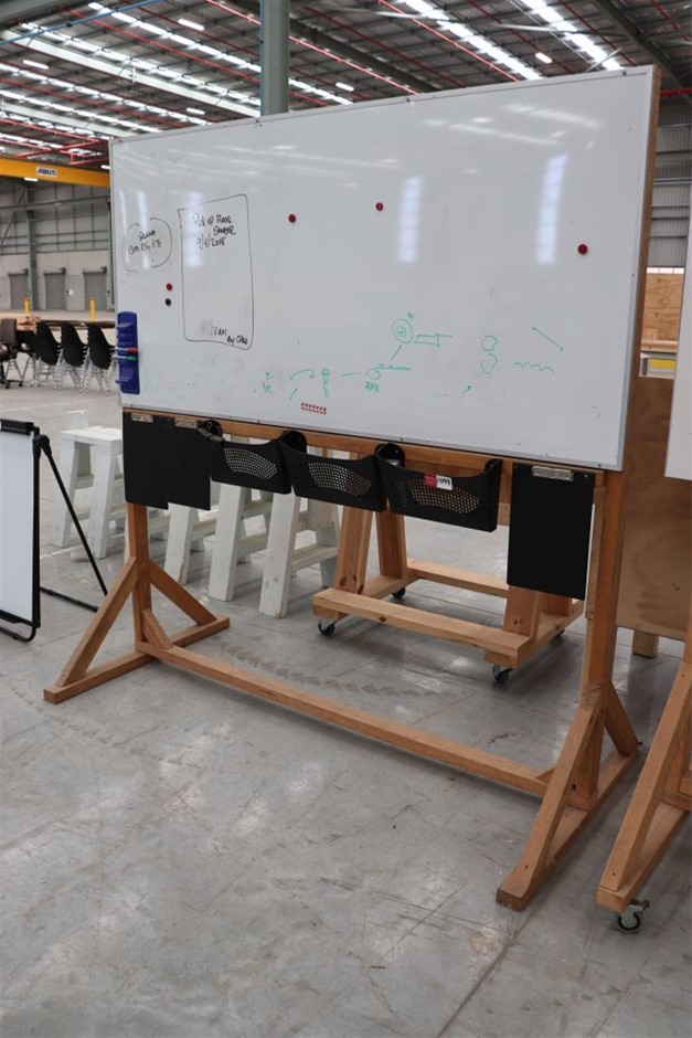 Whiteboard - Mounted on Timber Frame