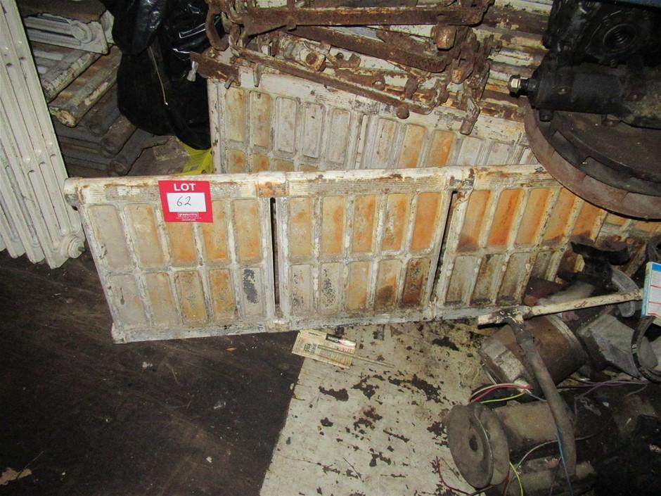 6 Cast Iron Original Victorian Hydronic Heating Panels