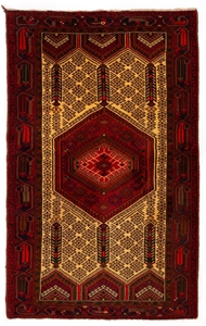 Persian Hamadan Hand Knotted 1005 Pure W