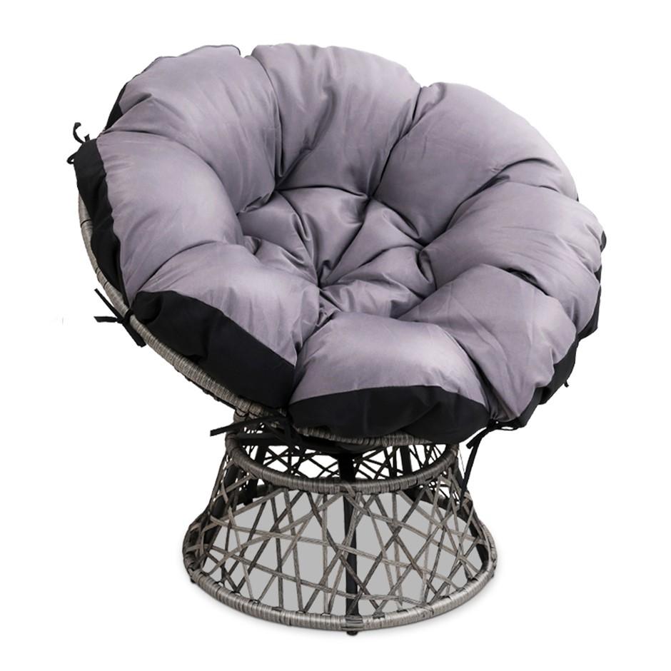 Gardeon Papasan Chair - Grey