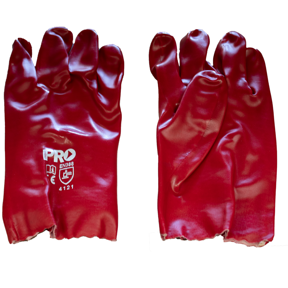 120 Pairs of Red Gloves PVC - One Size