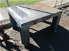 1x Steel Fabricated Table With Checker Plate Top