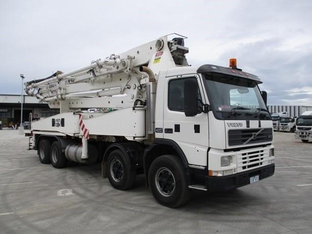 2002 Volvo FM12-420 8 x 4 Concrete Pump Truck