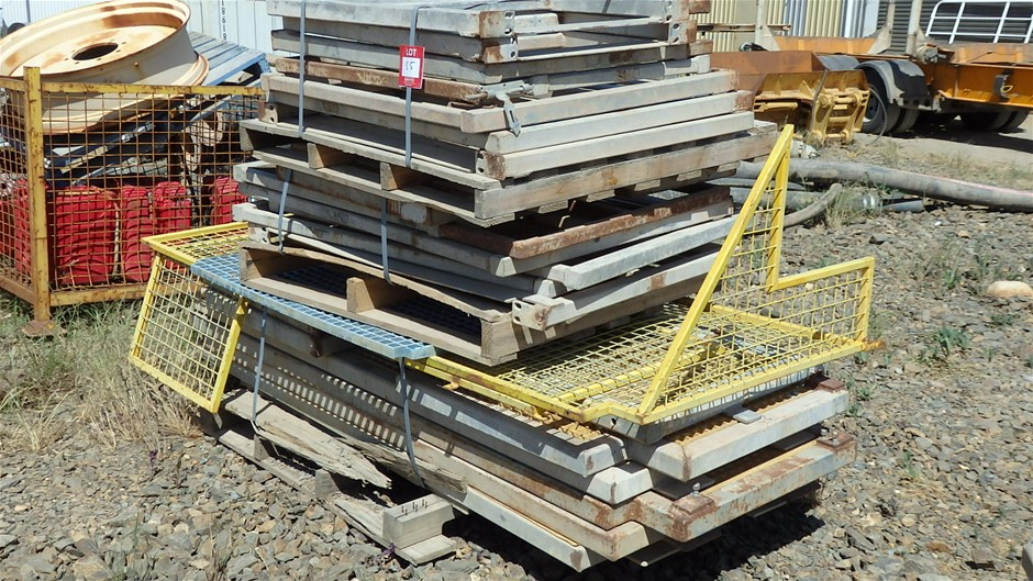 Pallet of Assorted Sizes Steel Fabricated Frames
