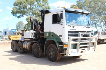 1994 Volvo F12 8x4 Prime Mover with Hiab