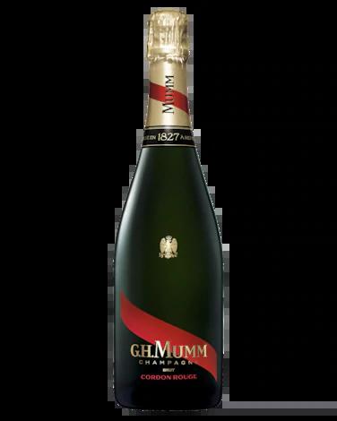 Mumm Cordon Rouge Brut NV (6 x 750mL). Fra. Cork Closure