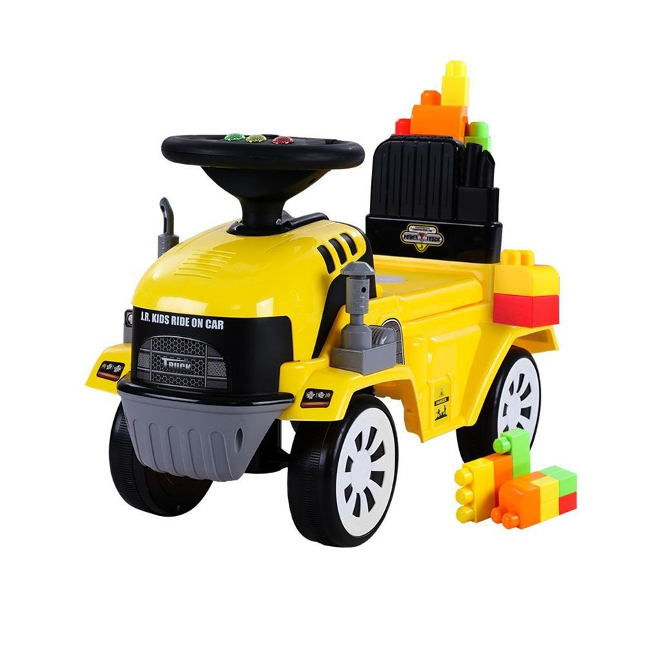 Keezi Kids Ride On Car w/ Building Blocks Toy Cars Engine Truck Children