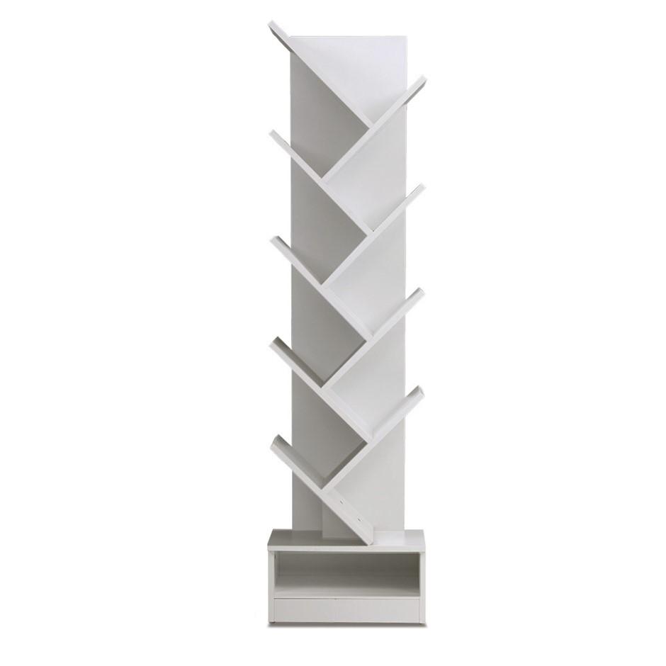 Artiss Display Shelf 9-Shelf Tree Bookshelf Book Storage Rack White