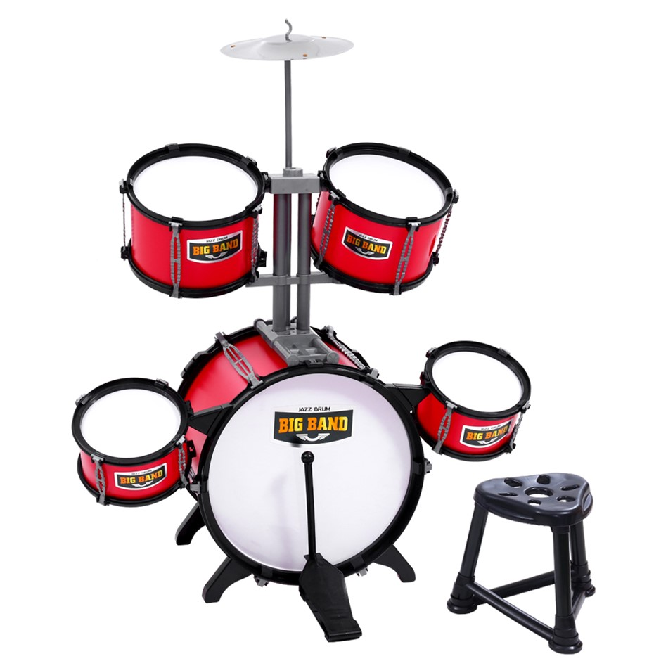 Keezi Kids 7 Drum Set Junior Drums Kit Toys Childrens Mini Big Band