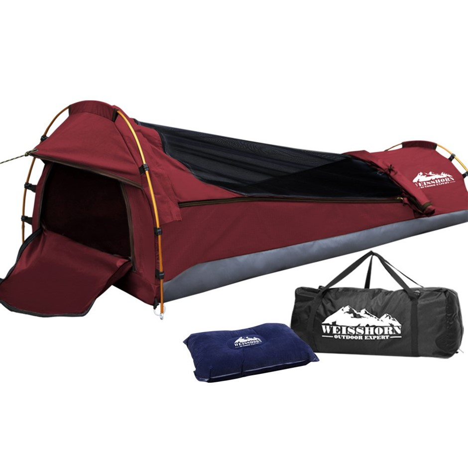 Weisshorn Biker Swag Camping Single Tent Biking Deluxe Rip Stop Canvas