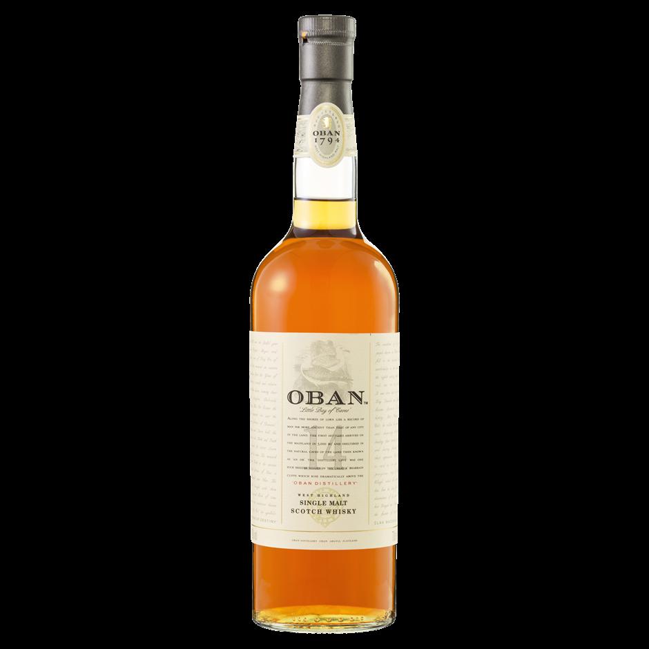 Oban 14 year old Single Malt Scotch Whisky (1x700mL). Scotland.