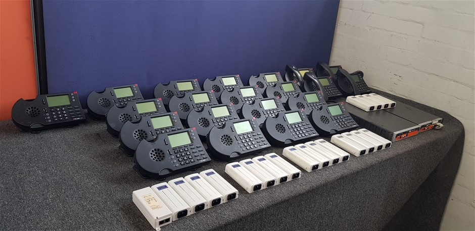 Bulk Lot Of Assorted Shortel Phone System/ Accessories