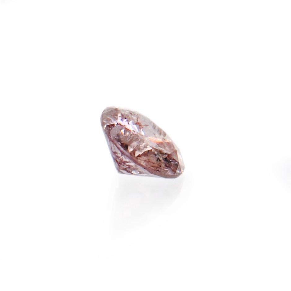 0.05ct Light pink diamond