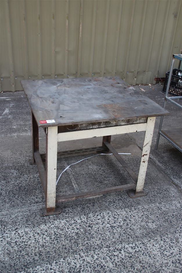 Heavy Duty Frame Work Bench, Timber Top Approx. 910mm(L) x 910m
