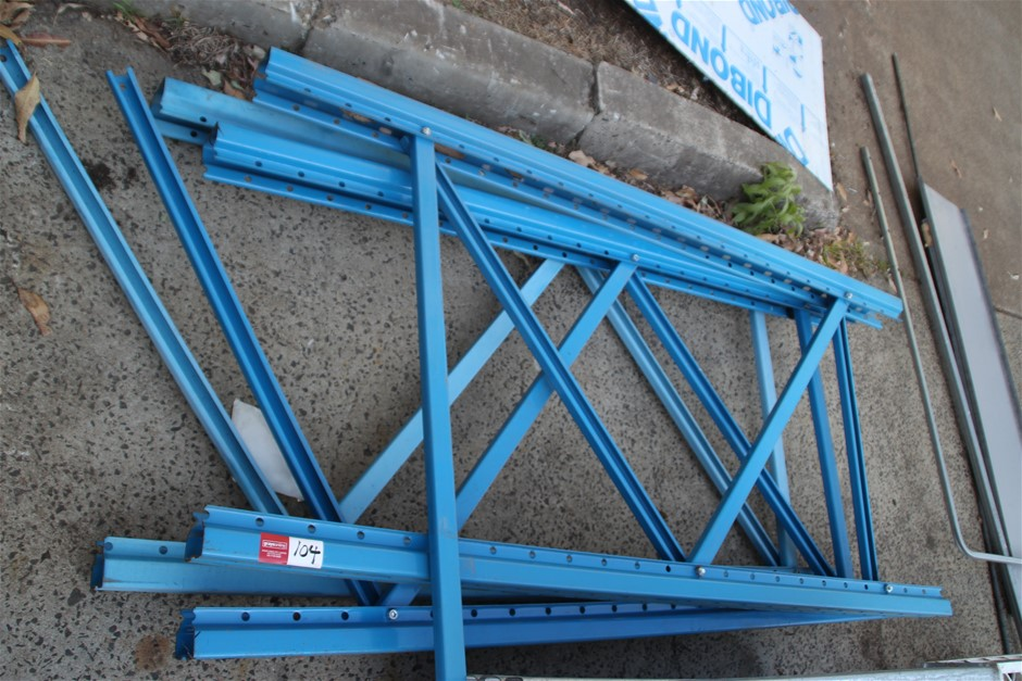 3 x Dexion Pallet Racking End Frames Approx: 3 x 1750mm x 840mm