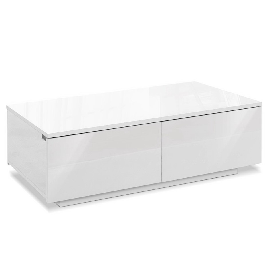 Artiss Modern Coffee Table 4 Drawers High Gloss Living Room Furniture White