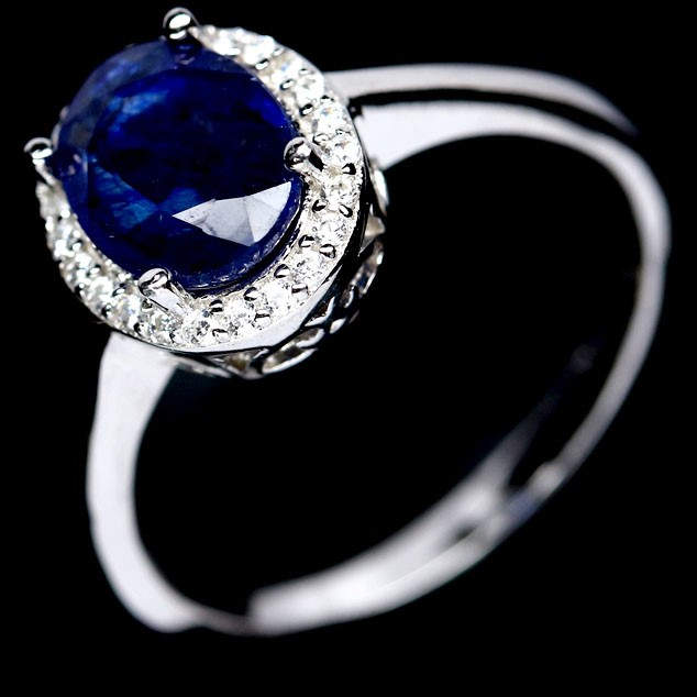 Gorgeous Genuine Intense Blue Sapphire Ring