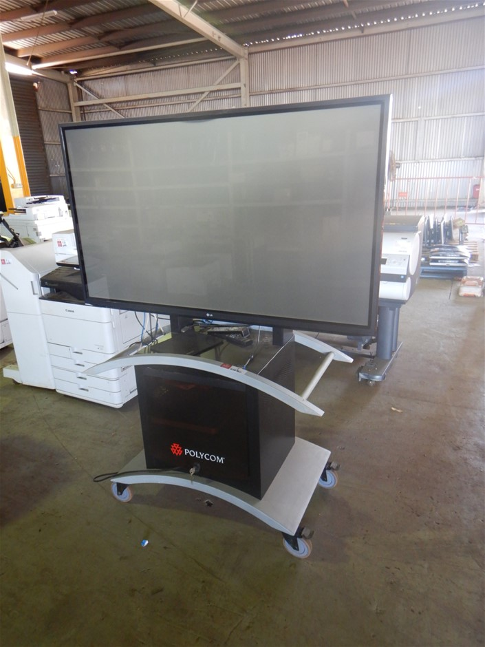 Multi Media Display Unit with Television & Polycom Conference Call Set-Up