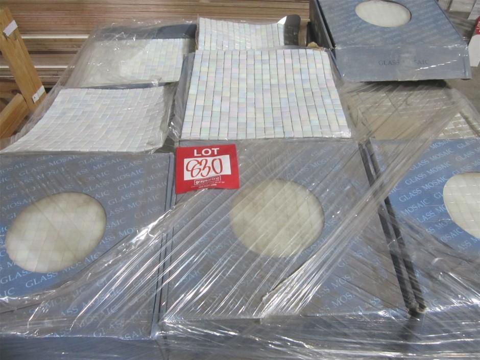 Box of Pearl Glass Mosaic Tiles. 295mm x 295mm