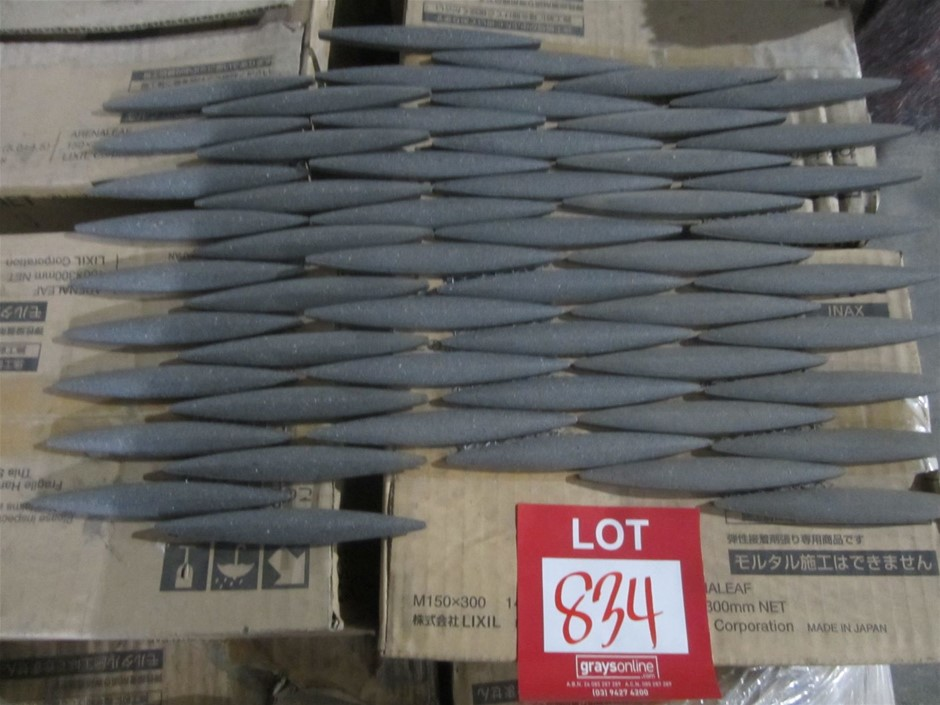Box of Lixil Inax Japanese made decorative wall tiles.. Arenaleaf 12 seets
