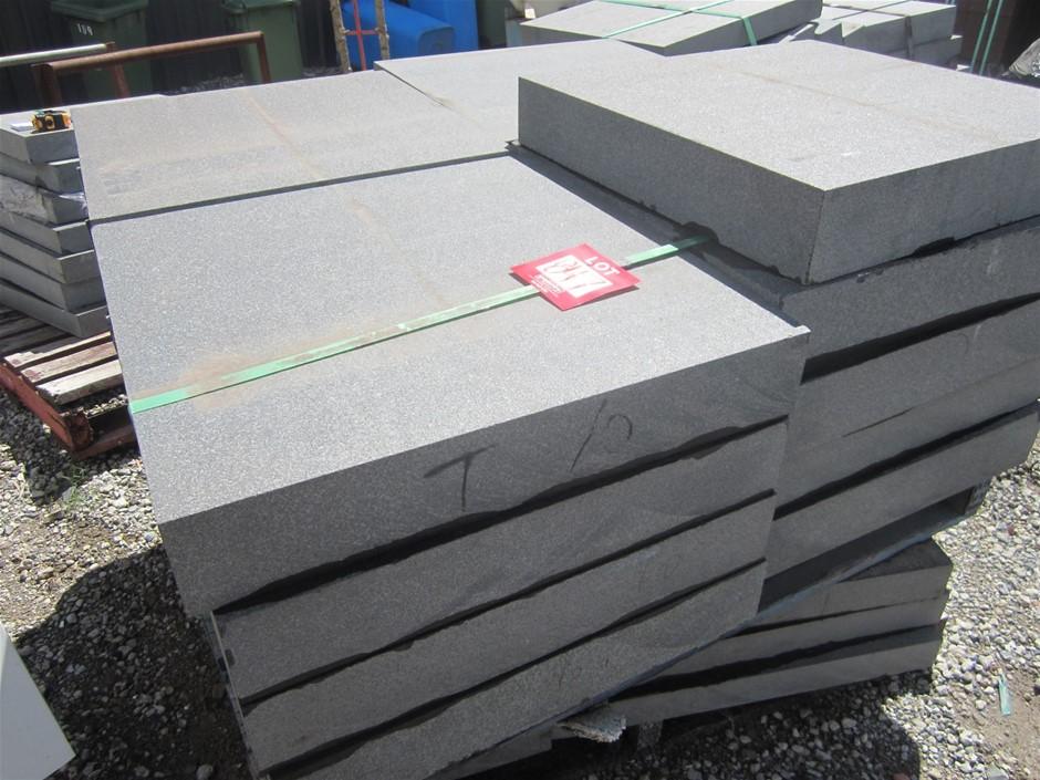 Pallet of 17 HUGE Bluestone Pavers. 580mm x 600mm x 100mm thick