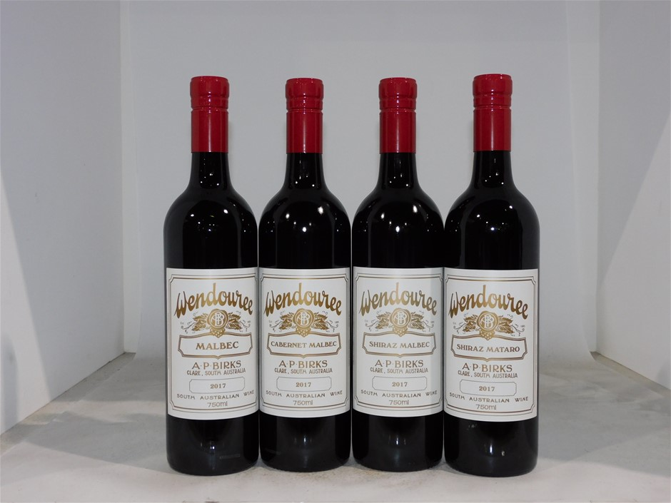 A.P.Birks `Wendouree` Horizontal Pack (4x 750ml), Clare Valley.
