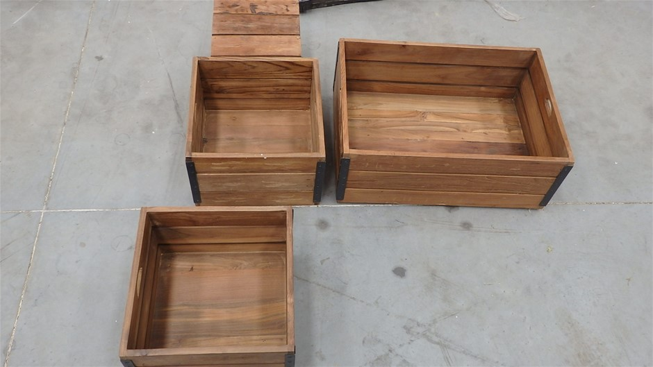 Qty 30x Assorted Timber Produce Display Boxes
