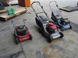 Qty 3 x Assorted Lawnmowers