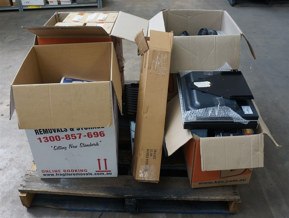 Pallet of Assorted Digital Cameras and Assorted Electrical Hardware