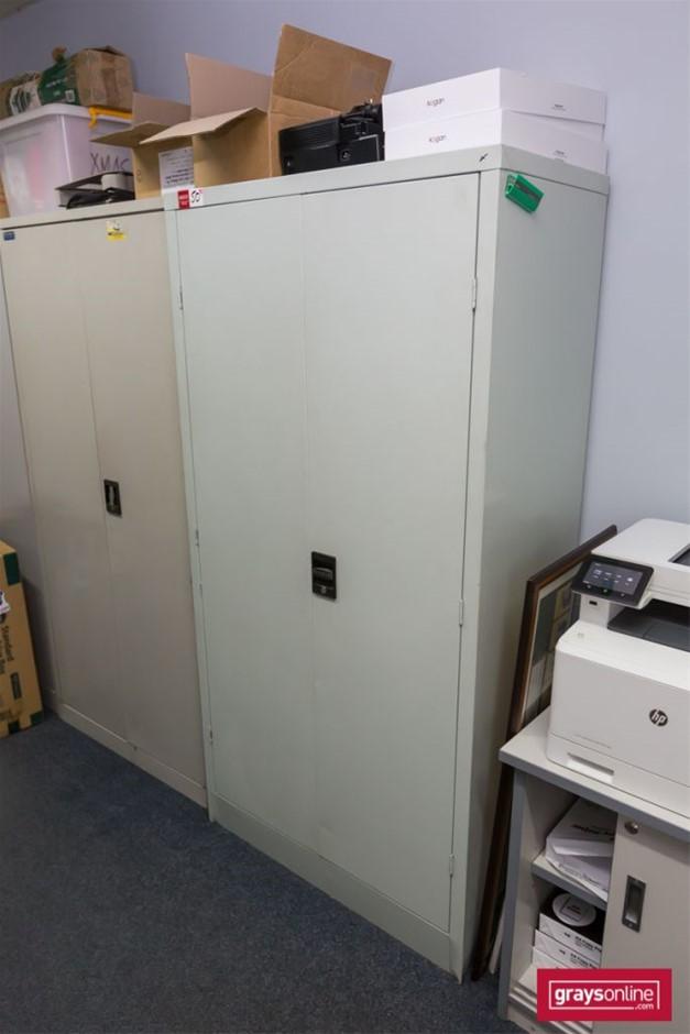 Grey Steel 2 Door Cabinet