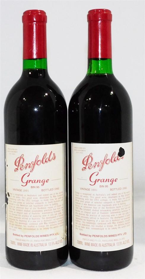 Penfolds `Bin 95` Grange Hermitage 1991 (2x 750ml)