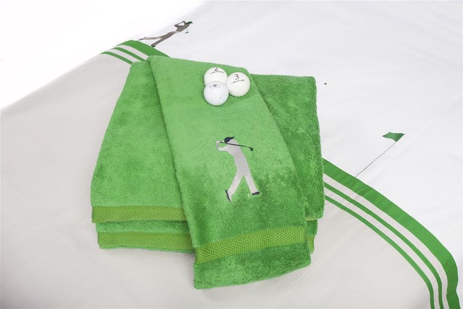 On The Green Bath Towel (Set of 2)