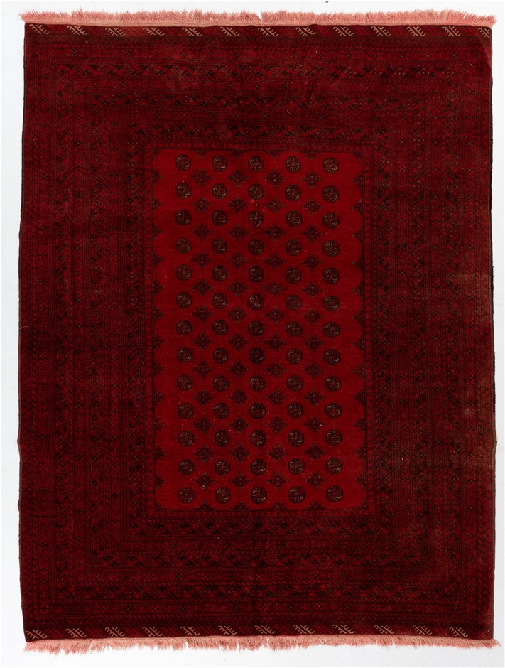 Afghan tekke Hand Knotted Pure Wool Pile Size (cm): 200 x 300