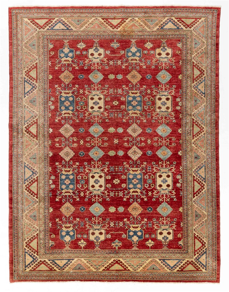 Afghan Super Kazak Hand Knotted Wool Pile Size (cm): 200 x 300