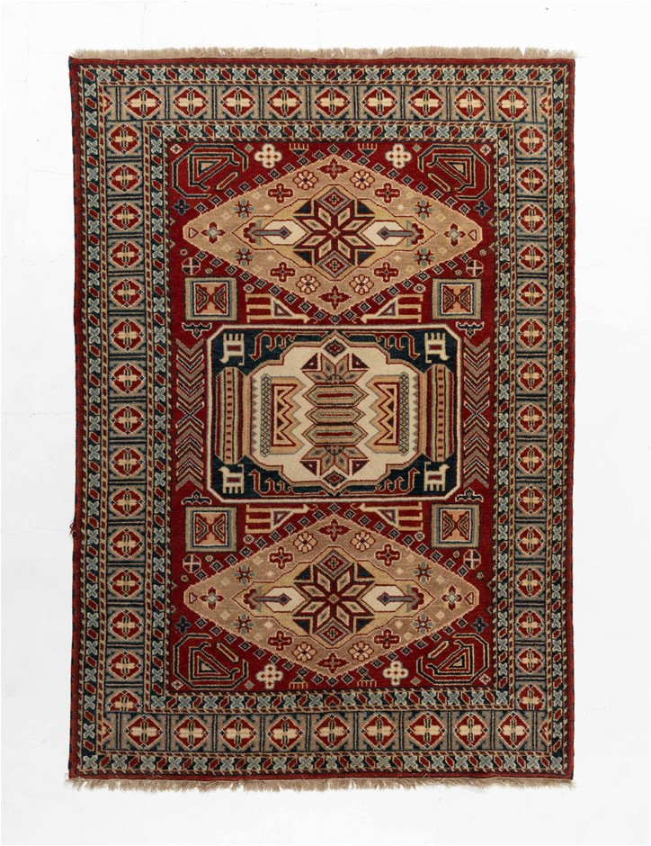 Indian Kazak Design Hand Knotted Pure Wool Pile Size (cm): 170 x 240
