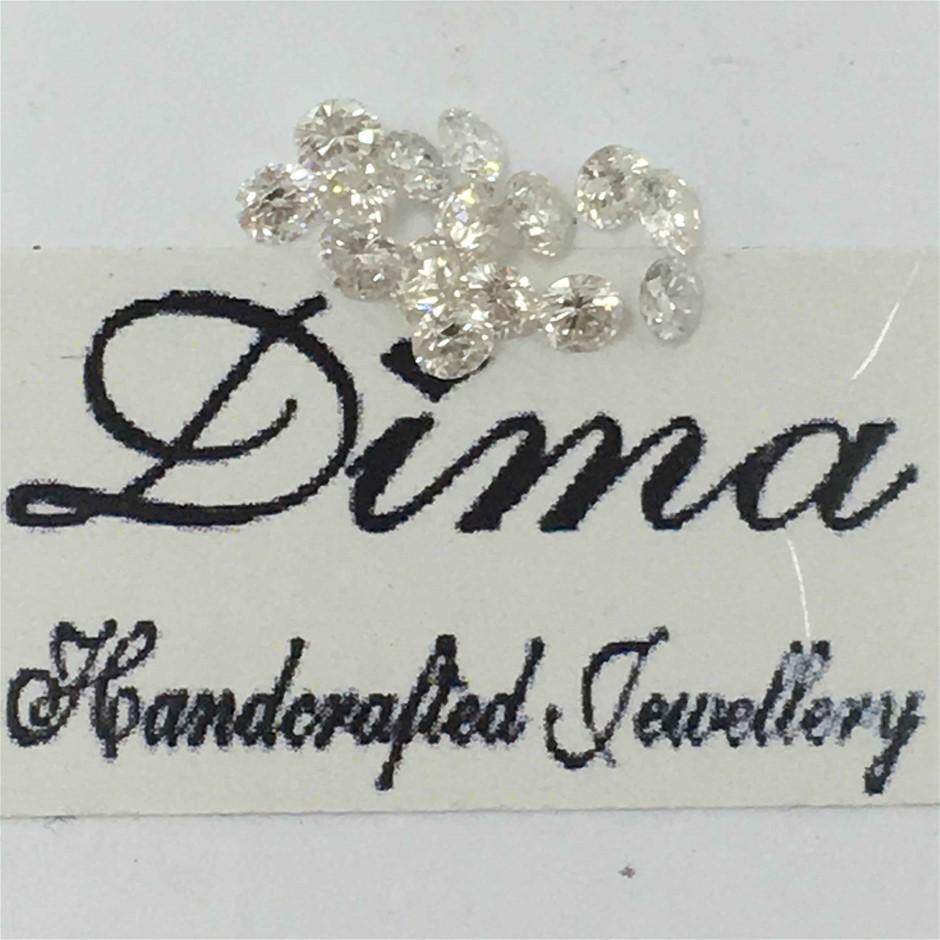 Fifteen Loose Diamond, 0.34ct in Total