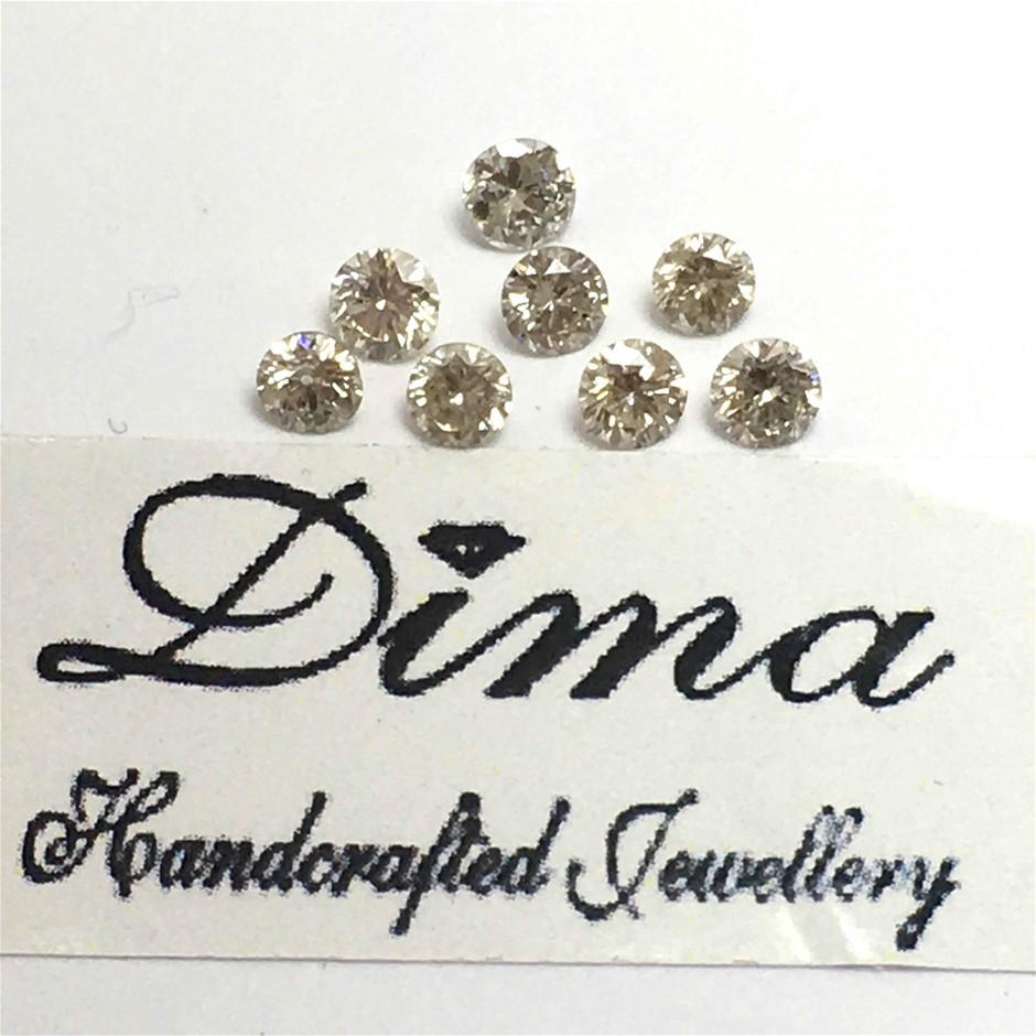 Eight Loose Diamond, 0.30ct in Total