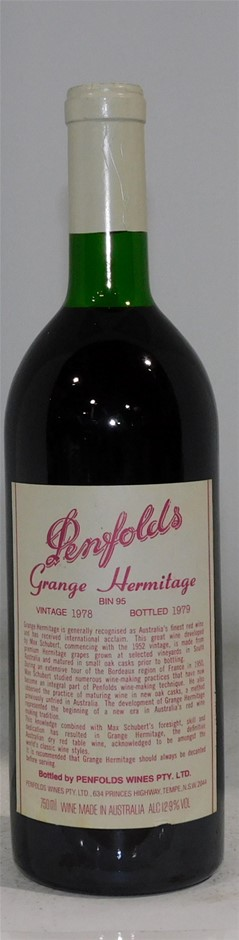 Penfolds Grange Hermitage 1978 (1x 750ml)