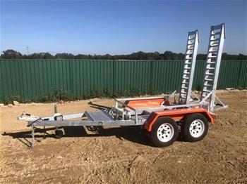 2019 New Plant Trailer - Galvanised Plant Trailer Tandem Heavy Duty 3400kg