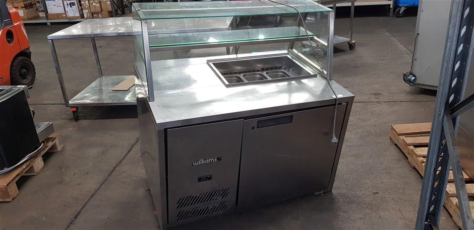 Williams HE1UBA-000 Stainless Steel Display Bench Refrigerator