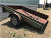 Non operational single axle trailer