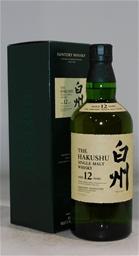Suntory Hakushu 12 YO Single Malt Whisky NV (1 x 700mL)