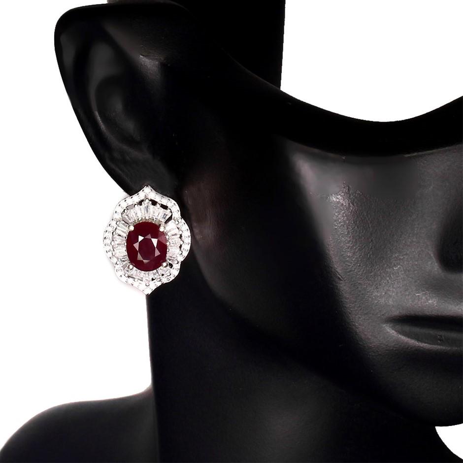 Gorgeous Genuine Ruby Huggie Earrings.