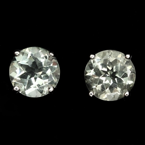 Beautiful Genuine Green Amethyst Stud ea