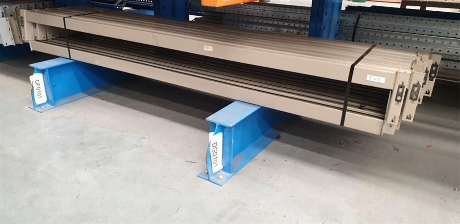 16x Dexion beams 2591mm x 83 with 1000kg per pallet capacity