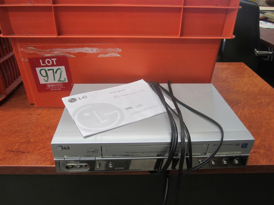 LG VHS recorder and over 100 Original VHS titles.