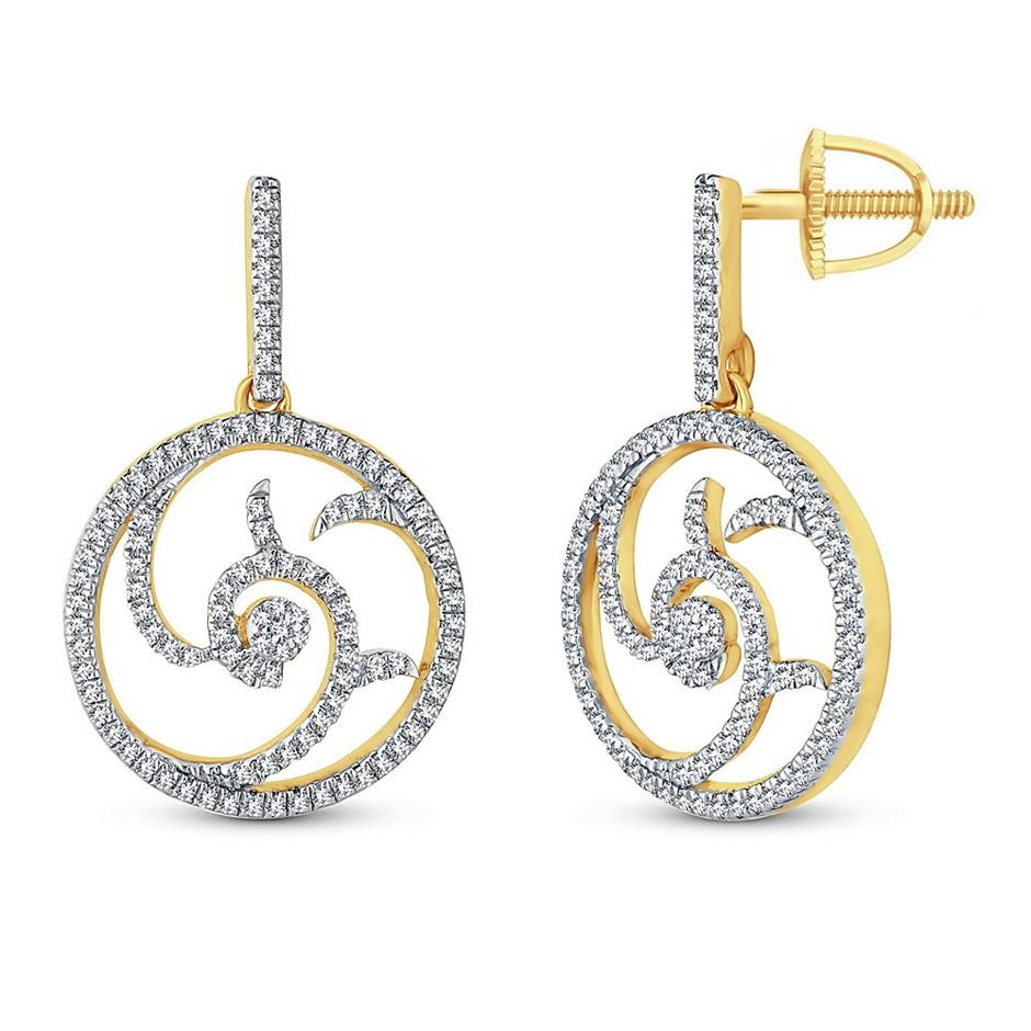 9ct Yellow Gold,0.32ct Diamond Earring
