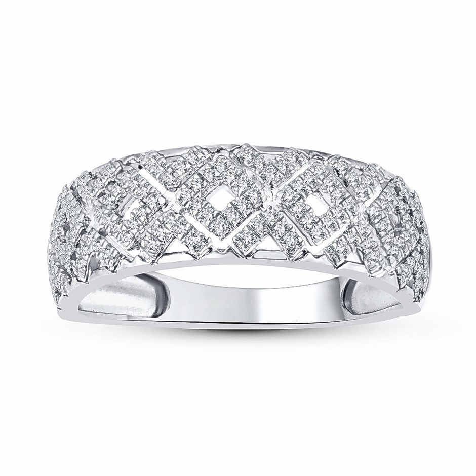 9ct White Gold, 0.20ct Diamond Ring