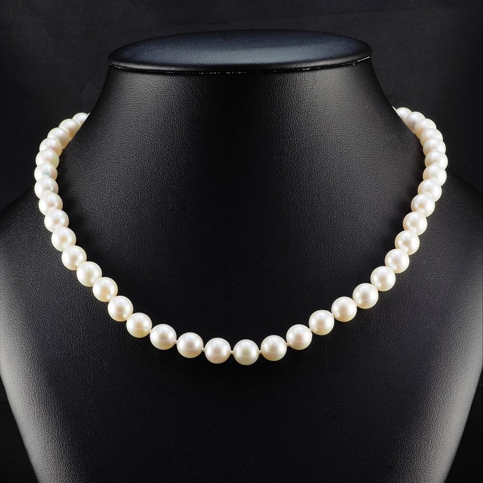 Natural Akoya Pearl Uniform Necklace 7.5 - 8.0mm
